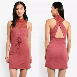 Free People High Society Terracotta Dress Large